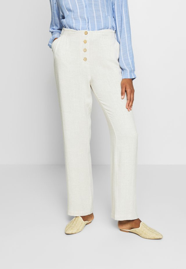 VALENTINA - Spodnie materiałowe - ote melange