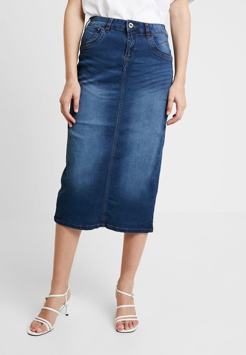 Cream - FIONA SKIRT - Pencil skirt - denim blue