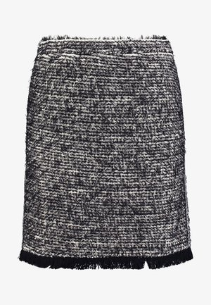 NANDY TWEED SKIRT - A-Linien-Rock - black