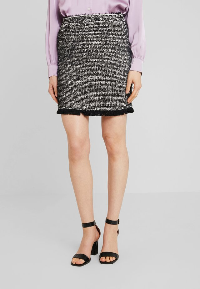 NANDY TWEED SKIRT - A-snit nederdel/ A-formede nederdele - black