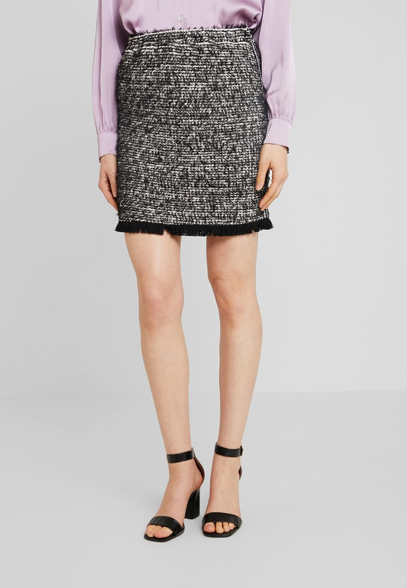 Cream SkirtJupe Trapèze Black Nandy Tweed hQrdsCt