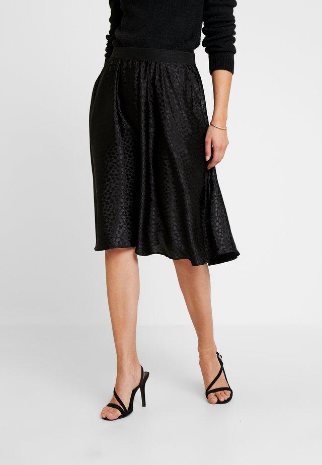 SANNE SKIRT - A-line skirt - pitch black