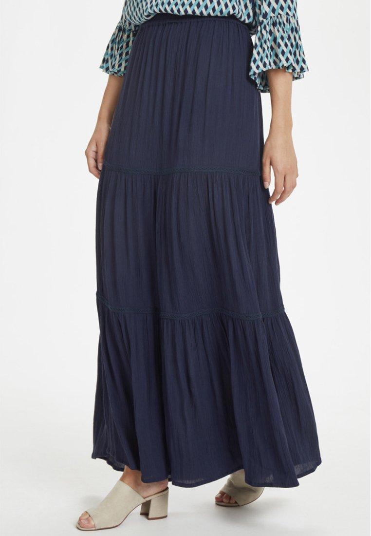 Cream - GINACR  - Maxi skirt - dark blue