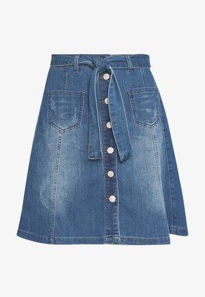 ALMACR DENIM SKIRT - A-line skirt - rich blue denim
