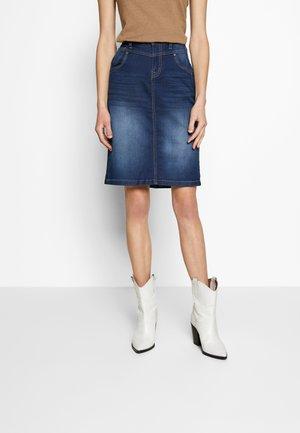 KAMMACR DENIM SKIRT - Pencil skirt - denim blue
