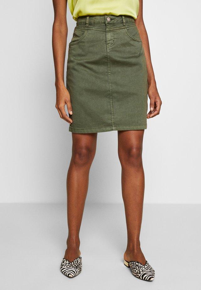 AMALIE SKIRT - Pencil skirt - burnt olive