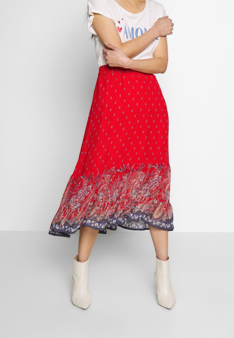 Cream - NALITA SKIRT - A-line skirt - aurora red