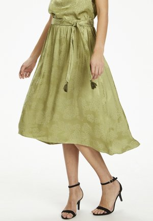 GUNNACR  - A-line skirt - cedar green