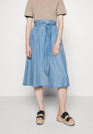 ESTER SKIRT - Spódnica trapezowa - denim blue