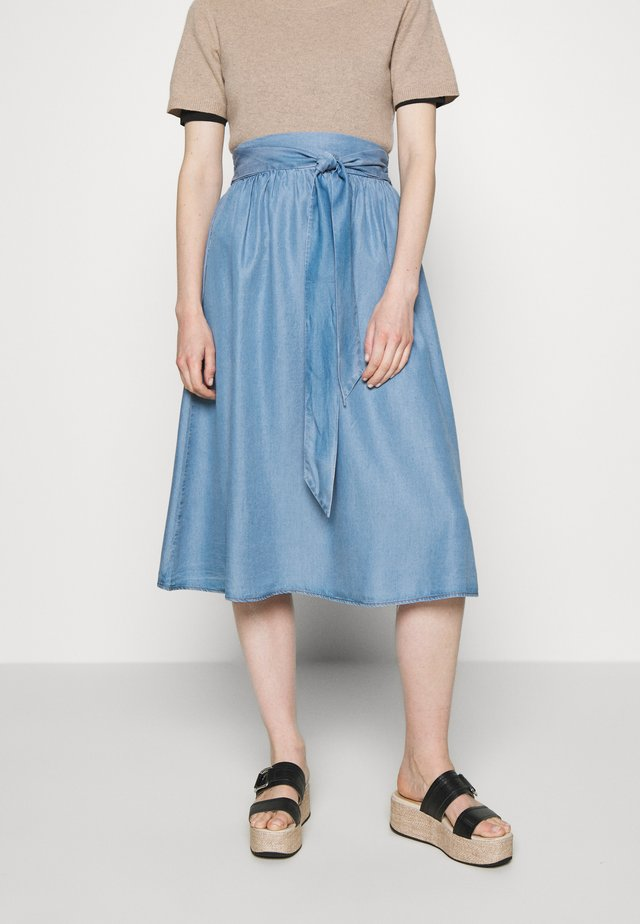 ESTER SKIRT - A-Linien-Rock - denim blue