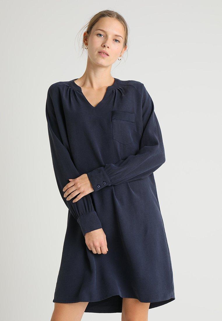 Cream - JACOBELLA DRESS - Day dress - royal navy blue