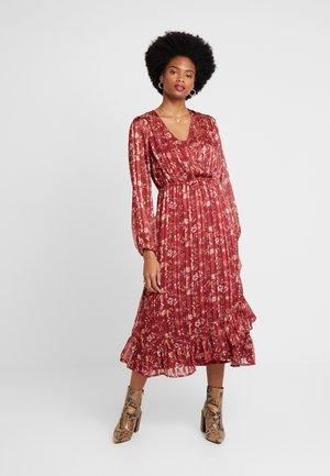 NILA WRAP DRESS - Day dress - merlot red