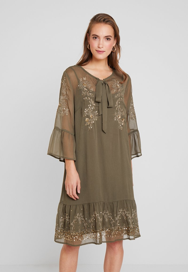 Cream - SISSEL DRESS - Korte jurk - sea green