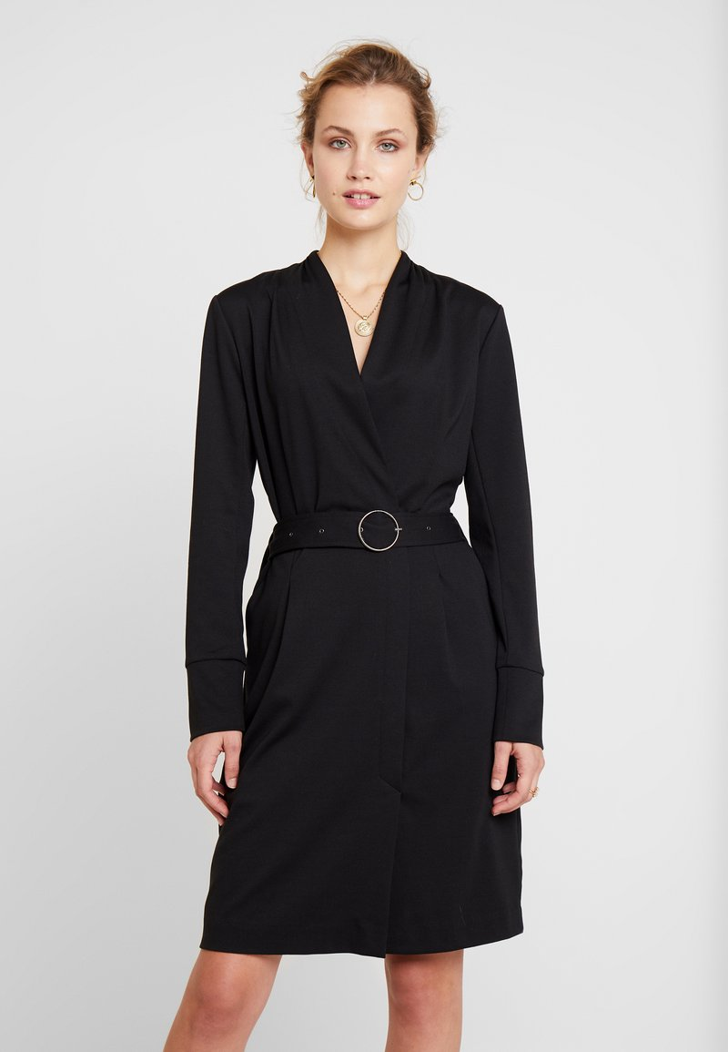 Cream - ZIA COAT DRESS - Shift dress - pitch black