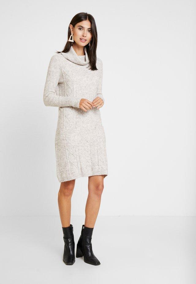 ANDY DRESS - Stickad klänning - light beige