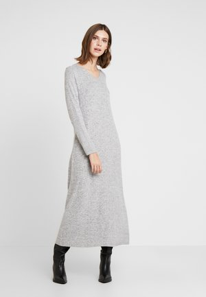 SHALLA DRESS - Strikket kjole - light grey melange
