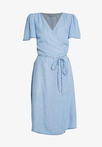 Cream - VINCACR VRAP DRESS - Denim dress - blue denim - 5