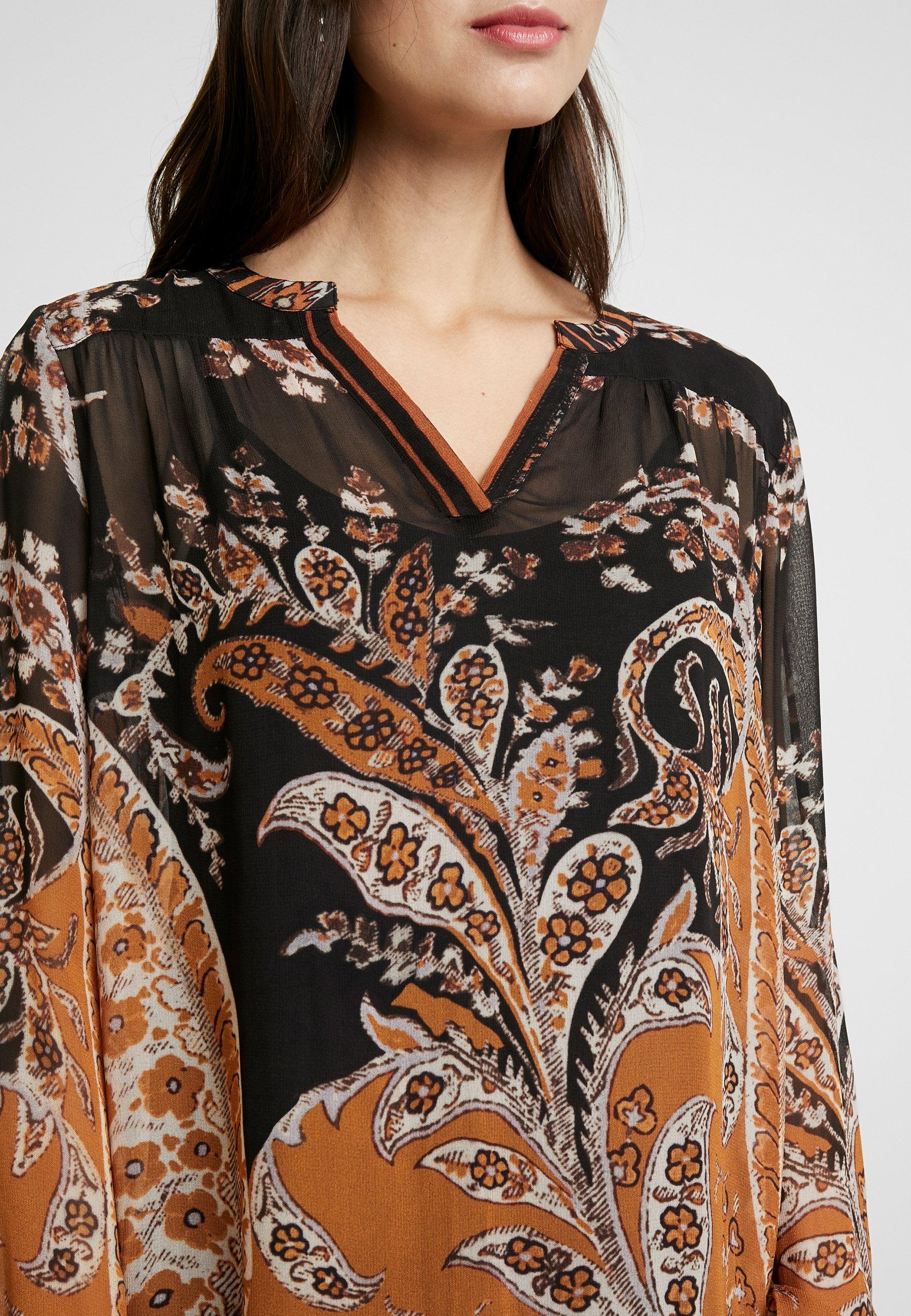 Cream Liza Dress - Vestito Estivo Pitch Black piCqr