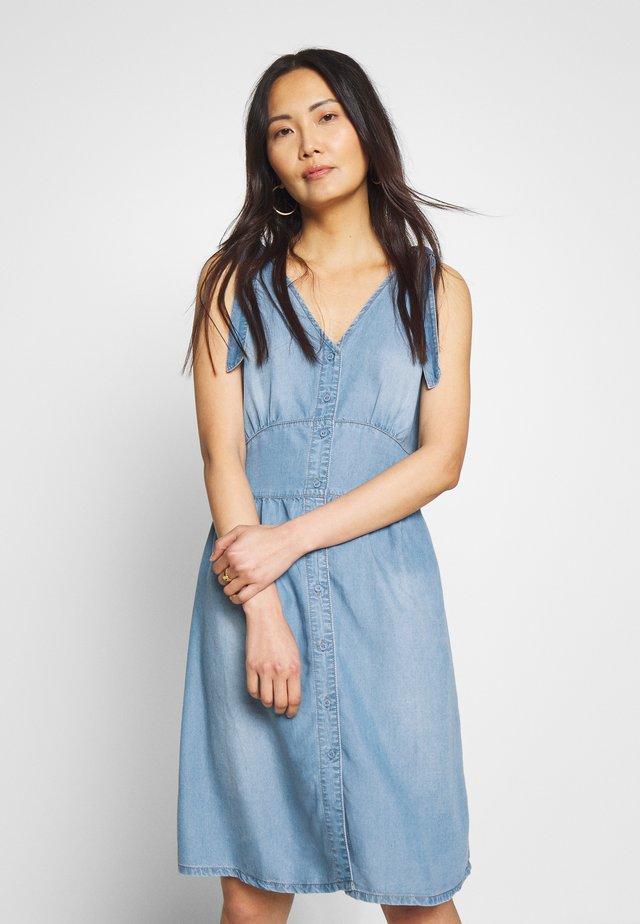 ESTHER DRESS - Denim dress - denim blue