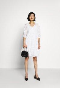 Cream - RISTA DRESS - Shirt dress - snow white - 1