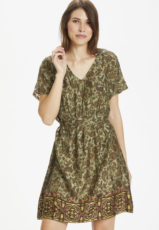 Sukienka letnia - paisley flower mix