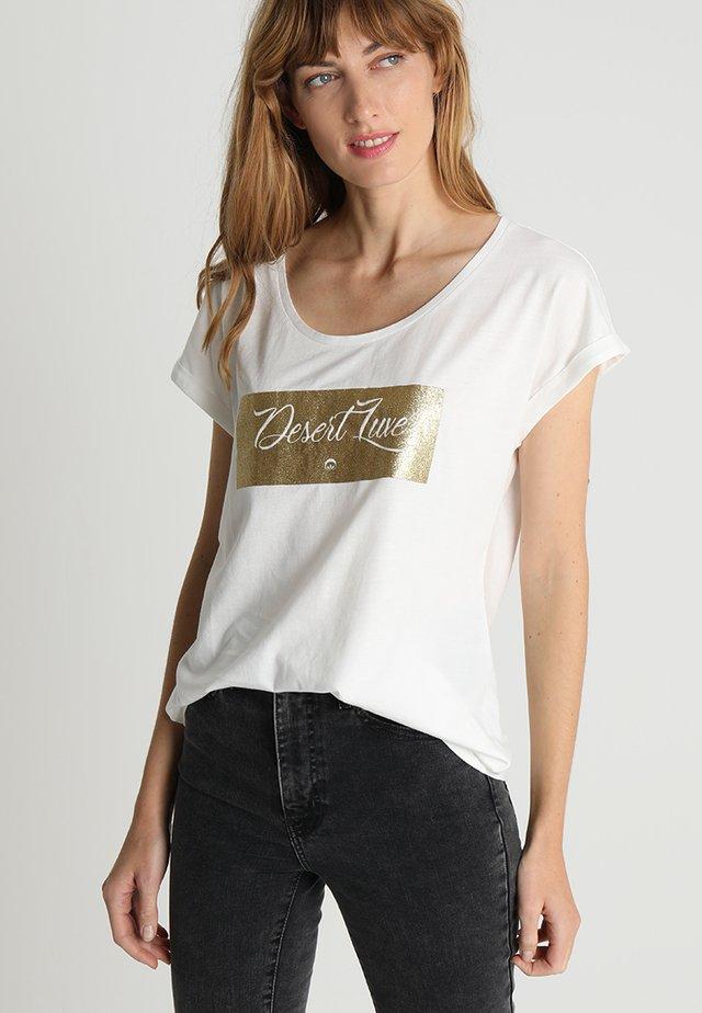 DEBBIE - Print T-shirt - chalk