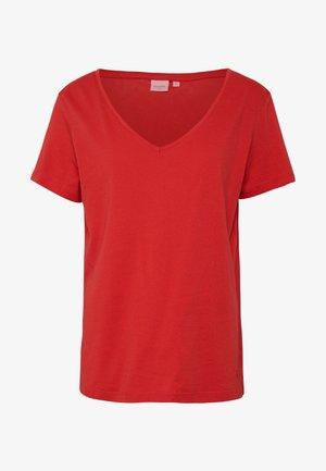 NAIA - Jednoduché triko - aurora red
