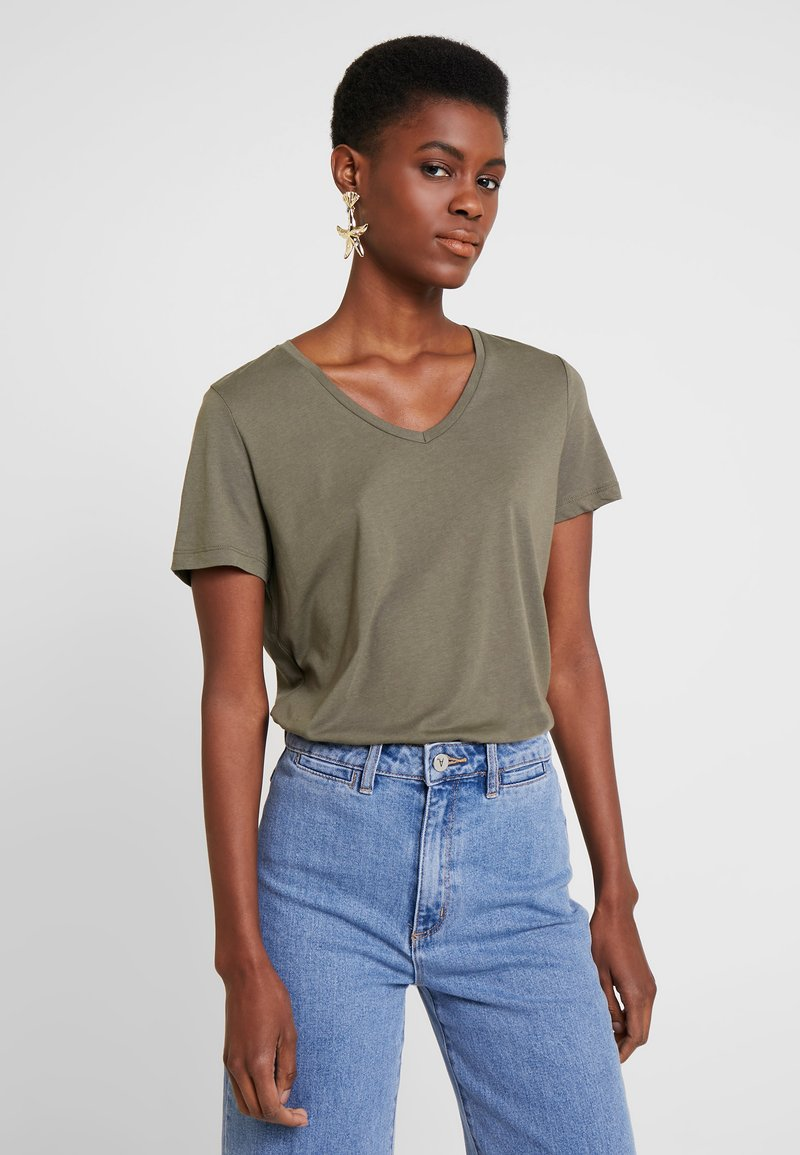 Cream - NAIA - T-shirt basic - sea green