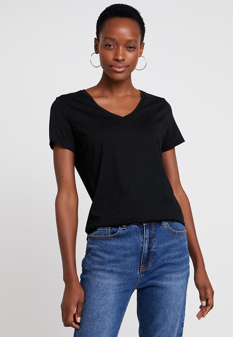 Cream - NAIA - Basic T-shirt - pitch black