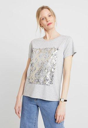 SAHAND - T-shirt print - light grey melange