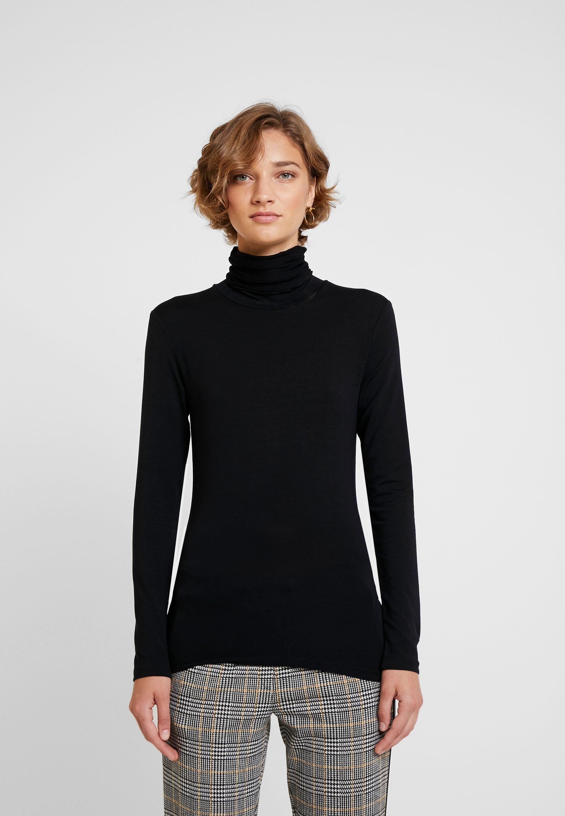 Cream VILLA - T-shirt à manches longues pitch black