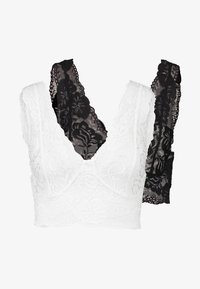 Cream - GLAZECR TOP 2 PACK - Top - black/white - 4