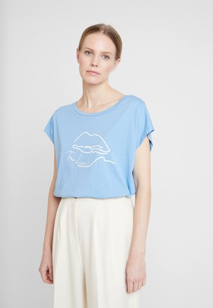 VELIGACR - Print T-shirt - silver lake blue
