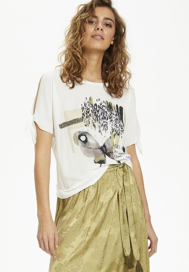 MOLLIECR  - T-shirts print - chalk