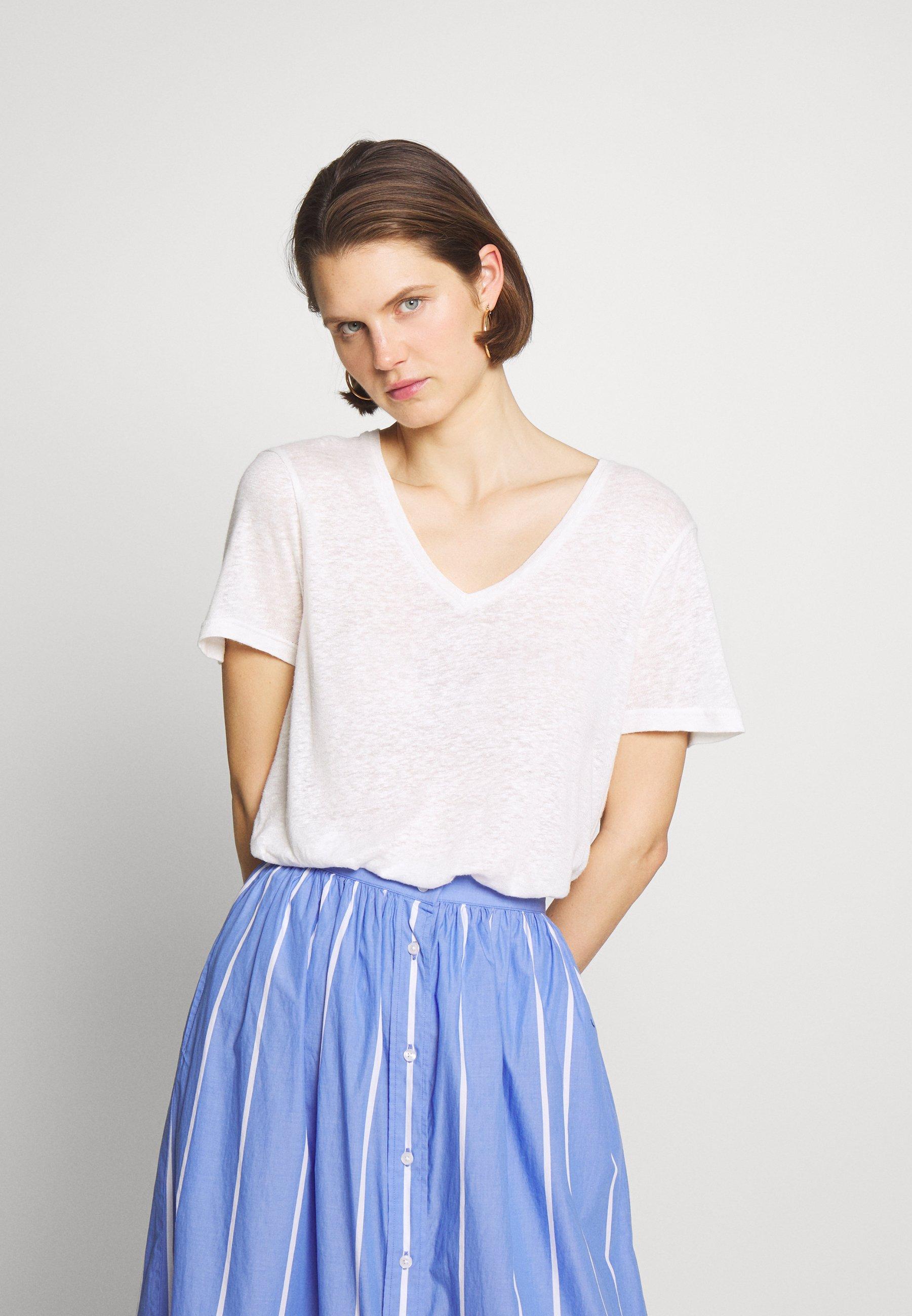 Cream PITTA - T-shirts - snow white