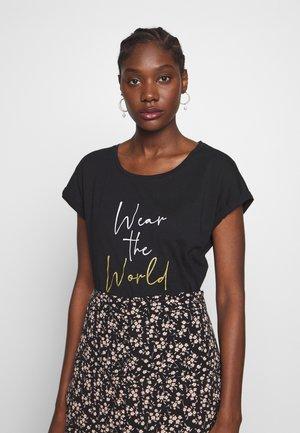 LIA - T-Shirt print - pitch black