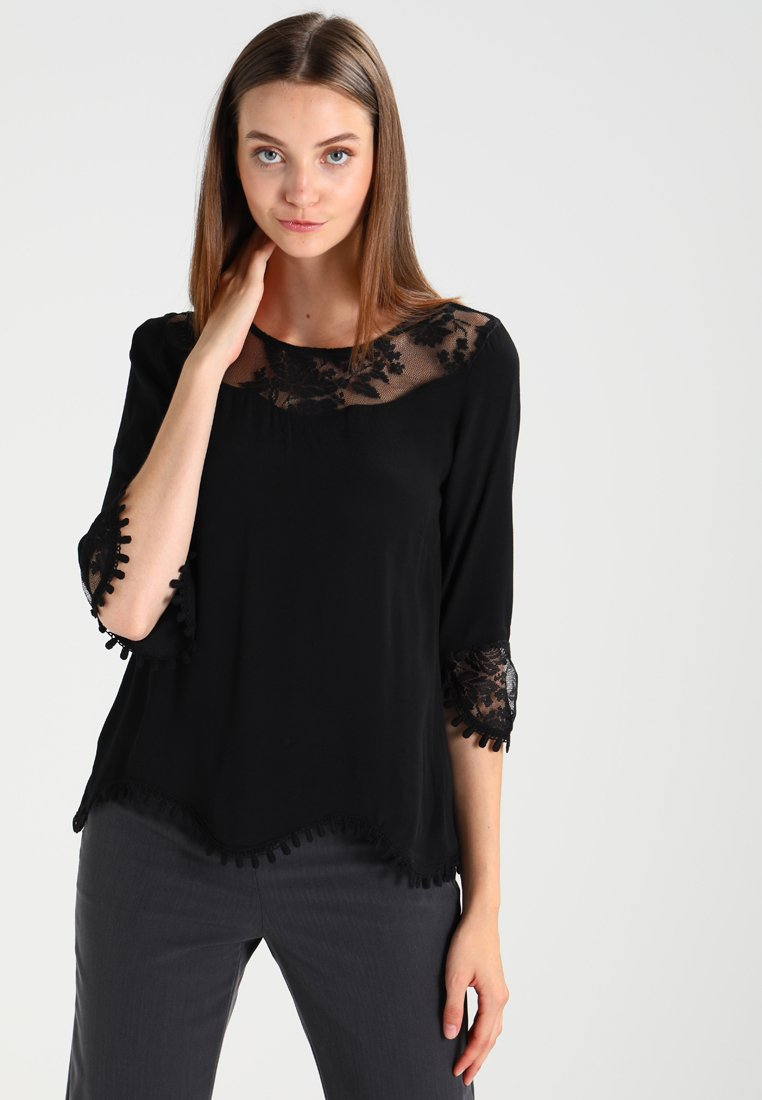 Cream - KALANIE BLOUSE - Blouse - pitch black