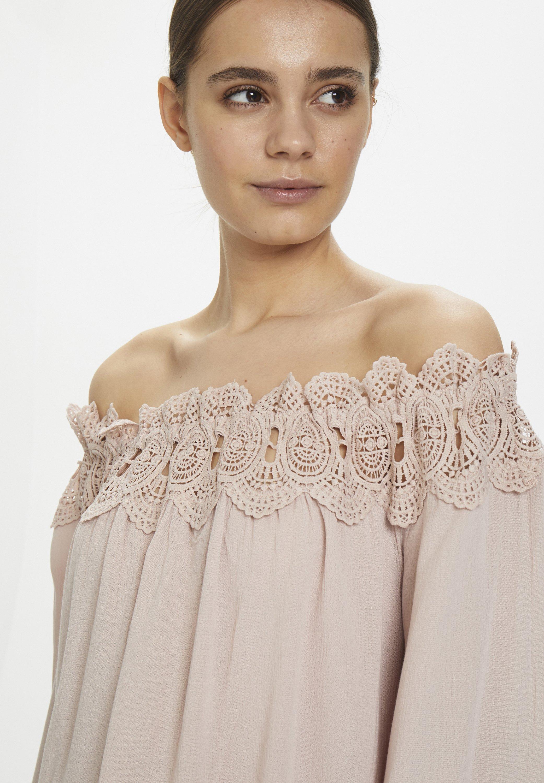 Cream Bea Lace Blouse - Rose Dust