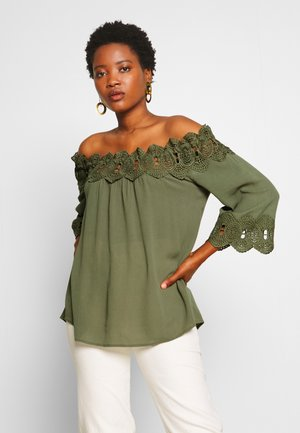 BEA LACE BLOUSE - Blouse - green leaf
