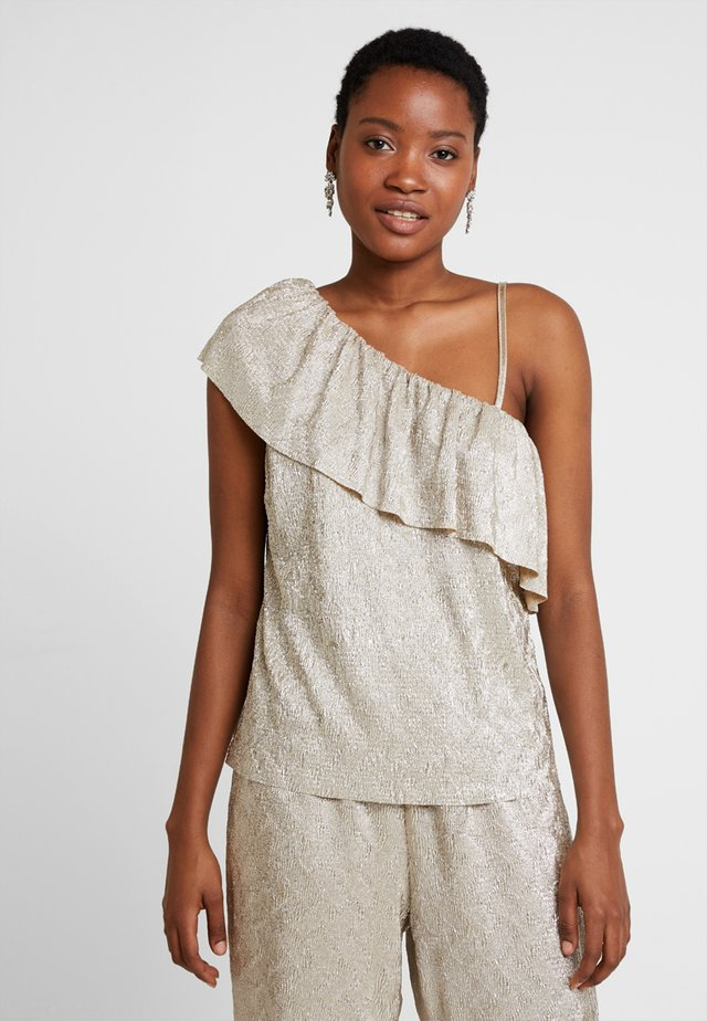 SHANIA BLOUSE - Bluser - dull gold