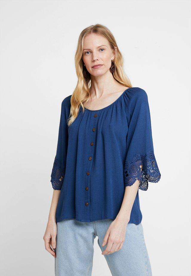 BEA BUTTON BLOUSE - Bluse - dark blue
