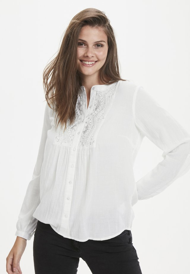 LUPITA - Button-down blouse - chalk