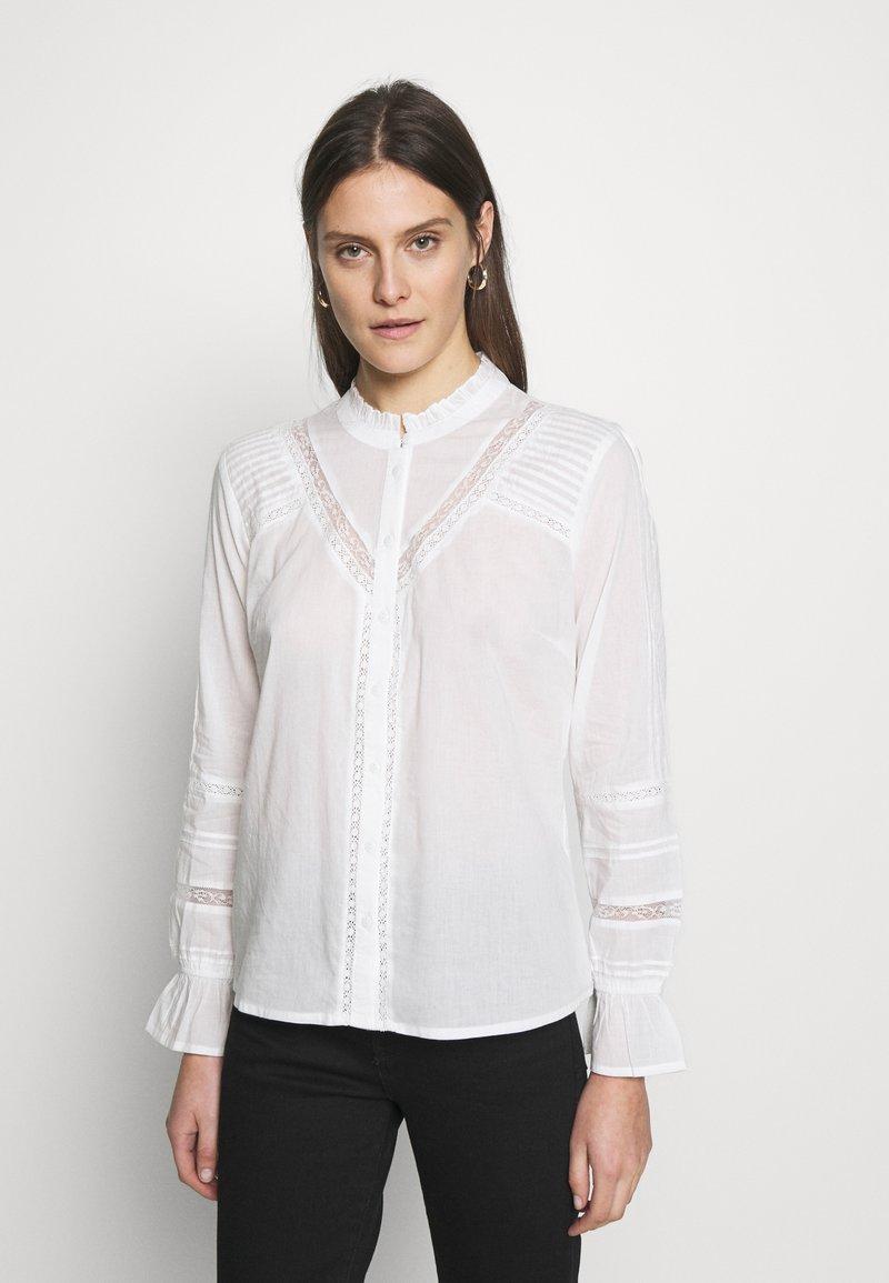 Cream - MANNA - Button-down blouse - chalk