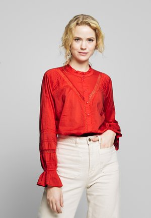 MANNA - Button-down blouse - aurora red
