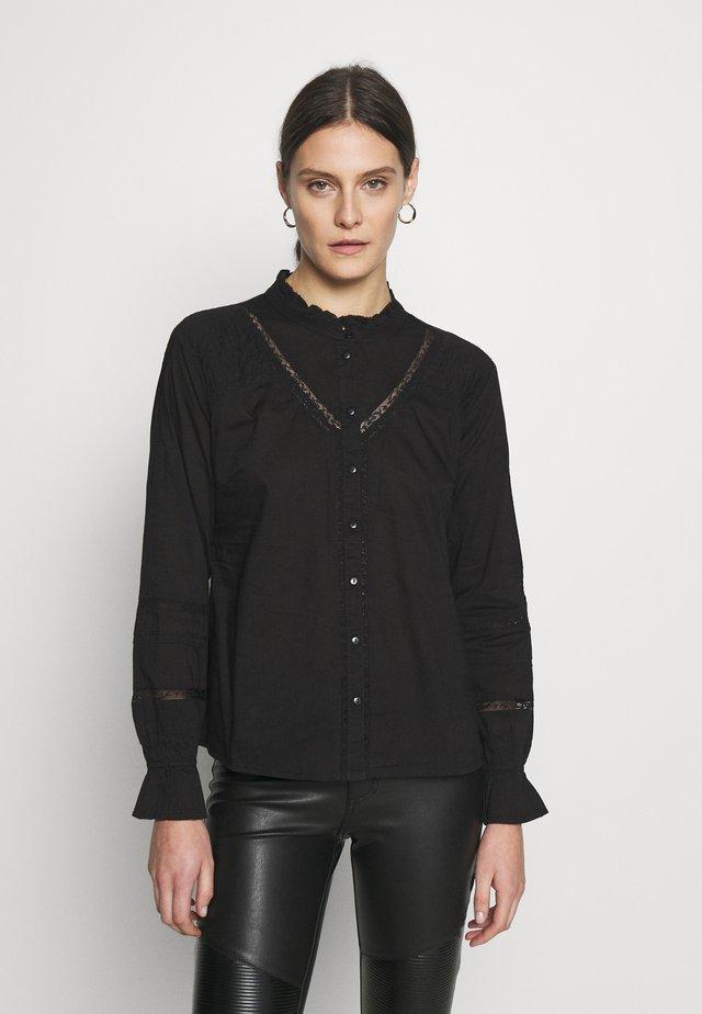 MANNA - Button-down blouse - pitch black