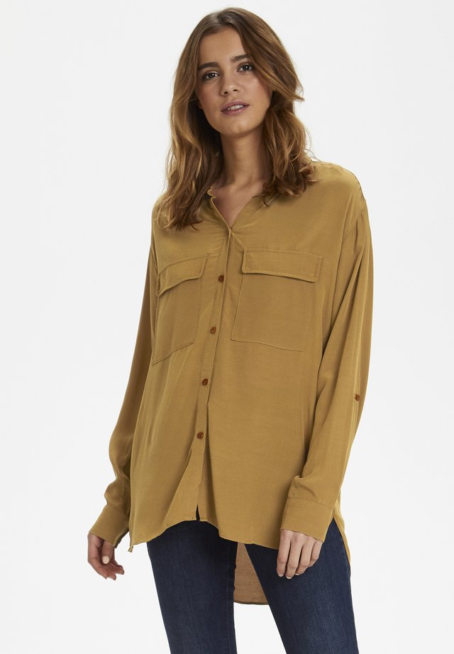 MILANIE - Button-down blouse - bronzed