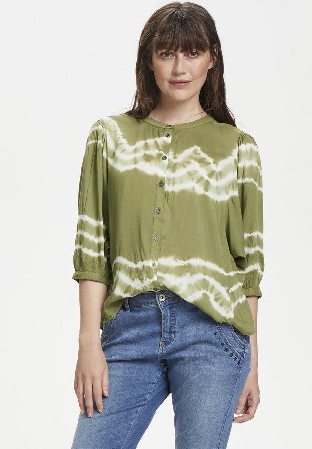 TARAHICR - Button-down blouse - cedar green