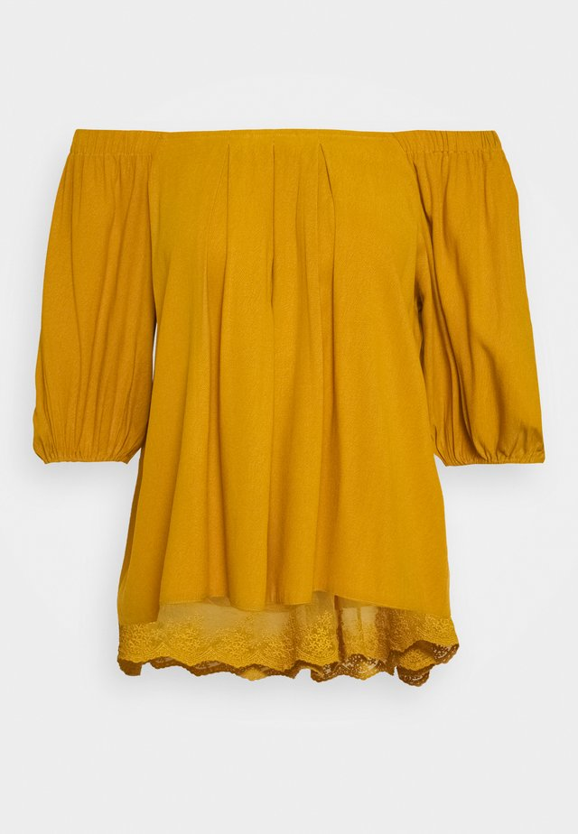 HAZELCR BLOUSE - Blůza - mustard yellow