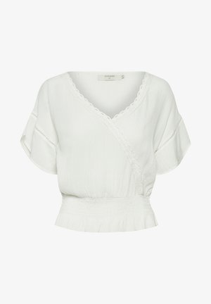 ANNYCR BLOUSE ECOVERO - Camicetta - chalk solid