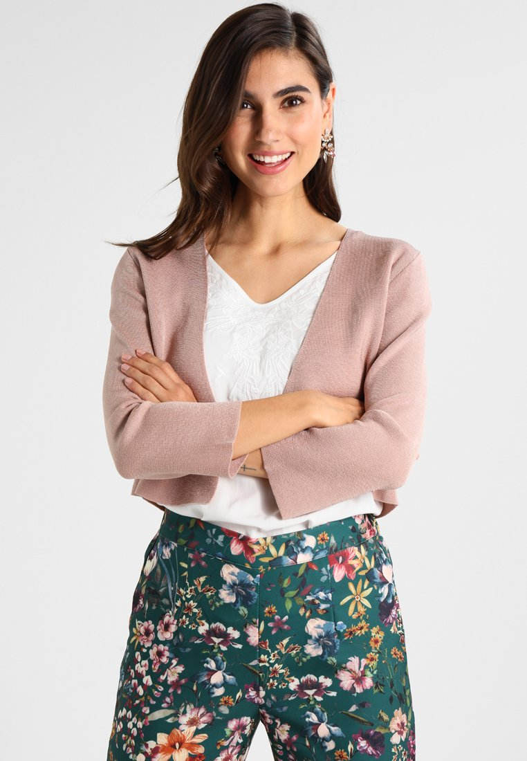Cream - CIARA BOLERO - Strickjacke - rose dust
